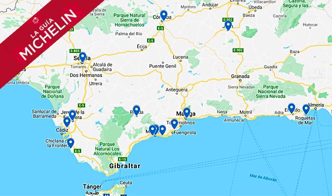 Mapa Donde Estan Los Restaurantes En Andalucia Con Estrellas