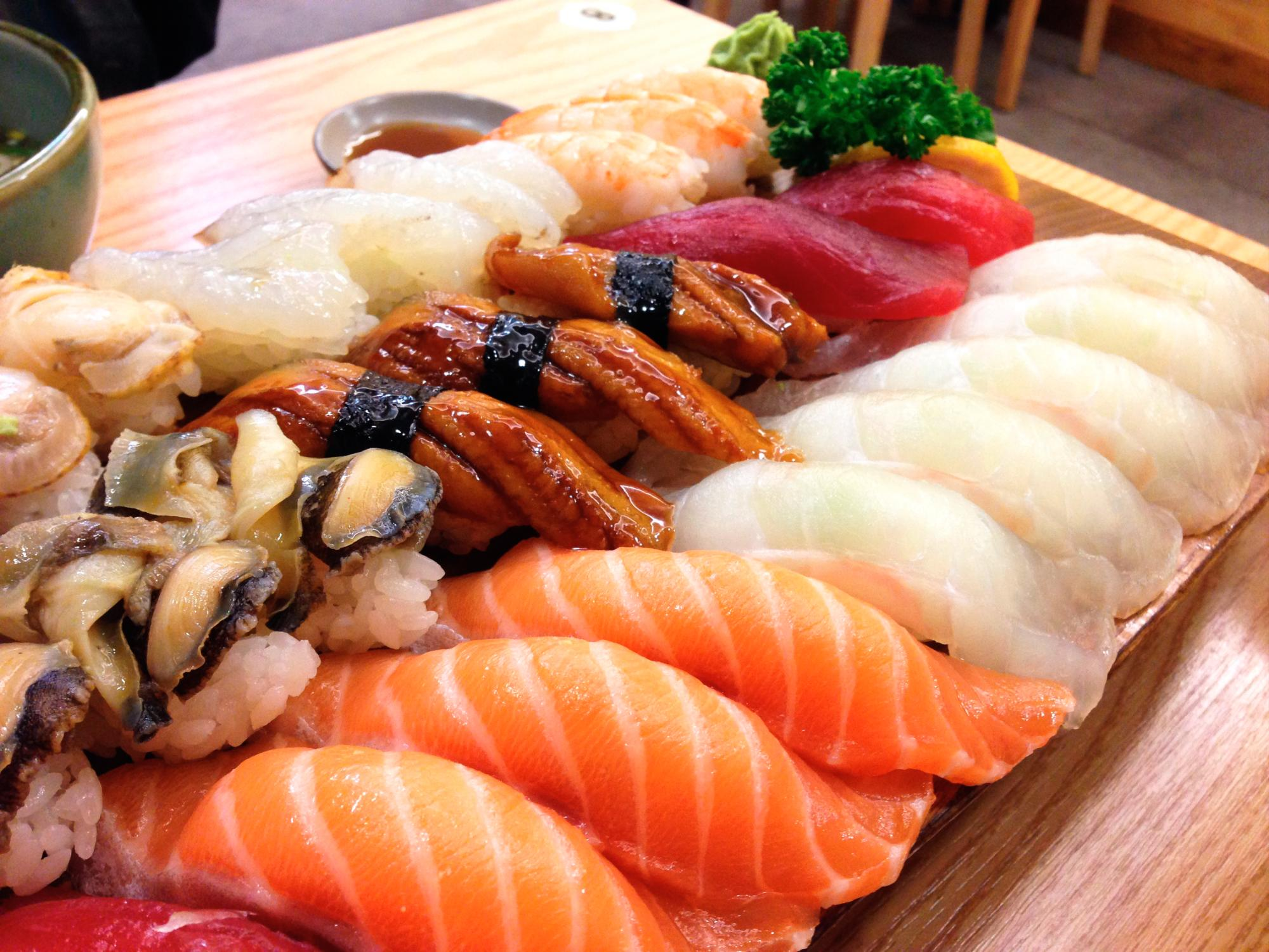 diarrea e sushi
