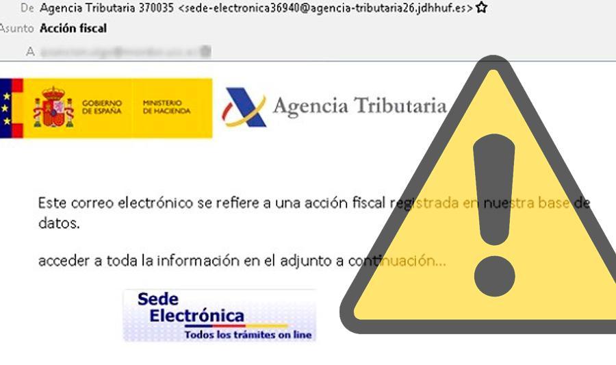 OCU Sevilla alerta del envío masivo de emails falsos de Hacienda