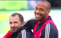 David Álvarez y Thierry Henry en su etapa en el New York Red Bulls.
