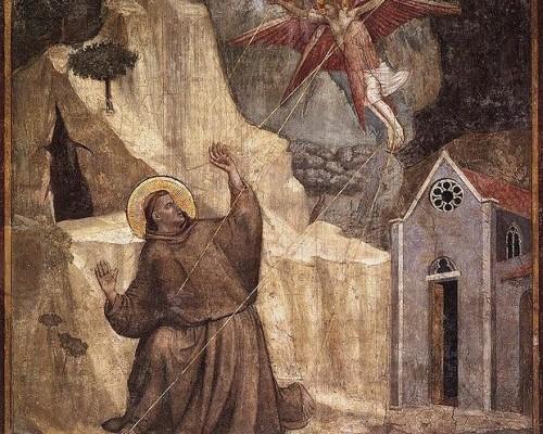 Resultado de imagen para jesus como serafin de los estigmas a san francisco