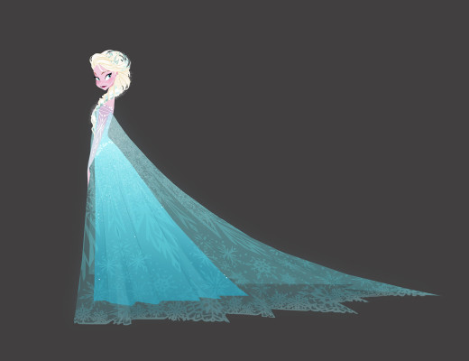 Frozen. El reino del hielo, 2013 . Brittney Lee. Estudio para la dirección de arte Pintura digital ® Disney Enterprises Inc.