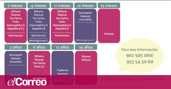 Calendario Vacunal Andalucia.Asi Queda El Calendario Vacunal