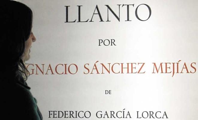 Lorca escribió su 'Llanto' a la muerte de Ignacio Sánchez Mejías. / Javier Cuesta