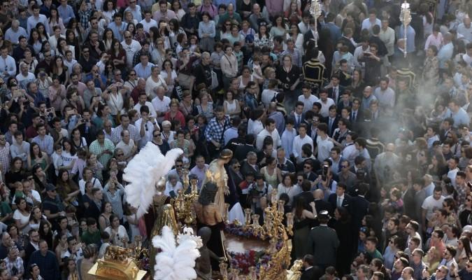 El misterio de la hermandad de San Benito, en su última salida procesional. / Manuel Gómez