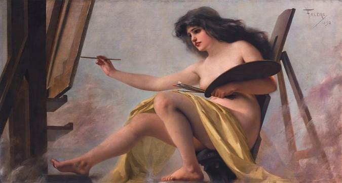 Resultado de imagen de luis ricardo falero alegoria de la pintura