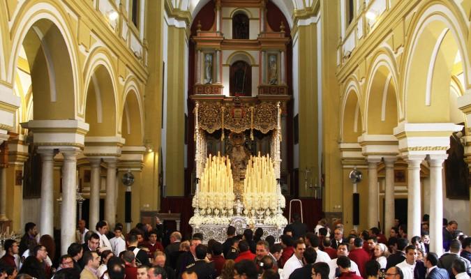 Macarena. La Virgen del Santo Rosario saldrá el próximo domingo en procesión desde la basílica. / Foto: M.G.