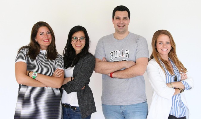 Equipo sevillano de The Klouters, plataforma exclusiva de venta para 'influencers'. / El Correo
