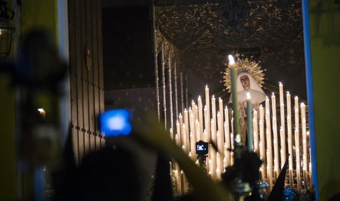 La Virgen de las Aguas (Museo) siempre va tocada por una diadema. / C. Hernández