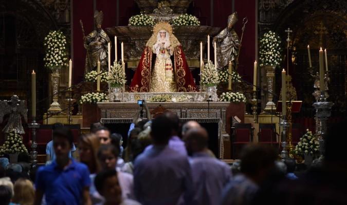 La Virgen de la Salud en el altar del Jubileo de la Catedral. / Jesús Barrera
