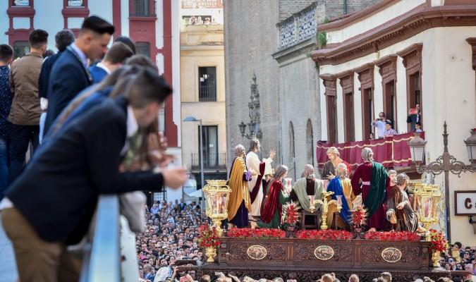 El misterio de la Cena, única escena de la Semana Santa que se desarrolla en el Cenáculo. / Jesús Barrera