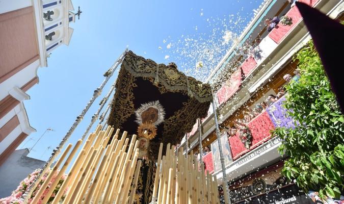 La Virgen del Cerro del Águila, el pasado Martes Santo. / Jesus Barrera