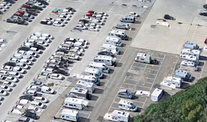 Área para las autocaravanas, cerca del Real. / Google Maps