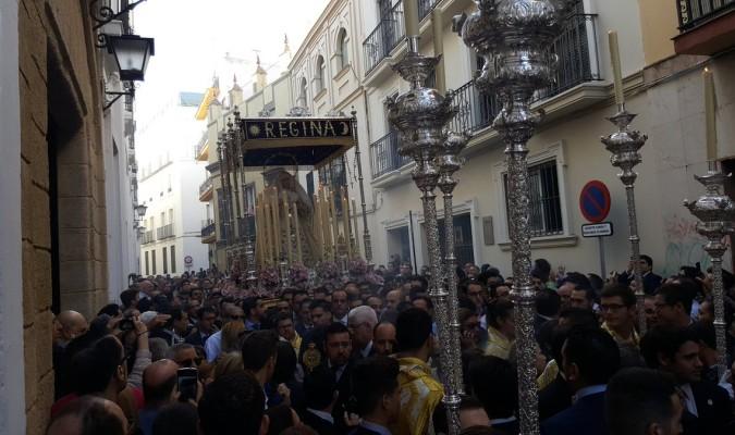 Rosario de la Aurora de la hermandad de Monte-Sión celebrado el pasado 1 de noviembre. / M.F.
