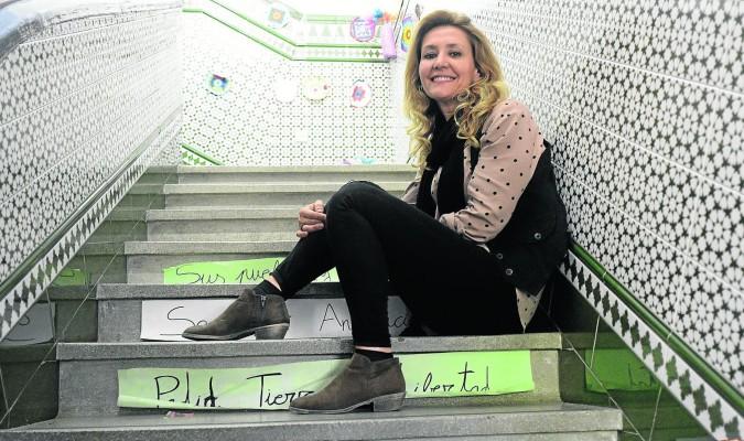 Estrella Pérez, en la sede de AES Candelaria, que atiende a 400 niños y jóvenes. / Manuel Gómez