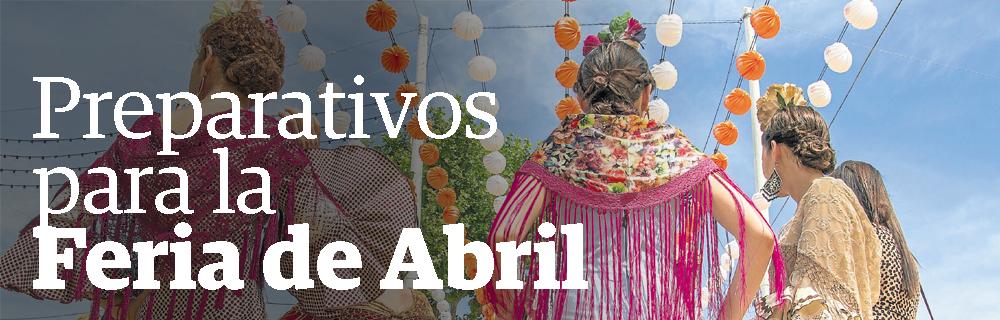 Preparativos para la Feria de Abril
