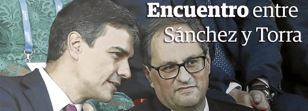 Encuentro entre Sánchez y Torra
