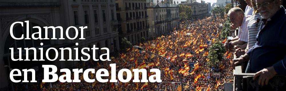Clamor unionista en Barcelona