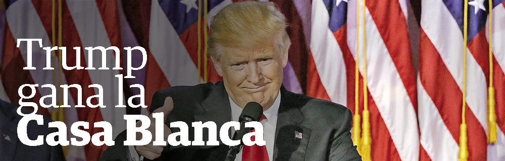 Trump gana la Casa Blanca