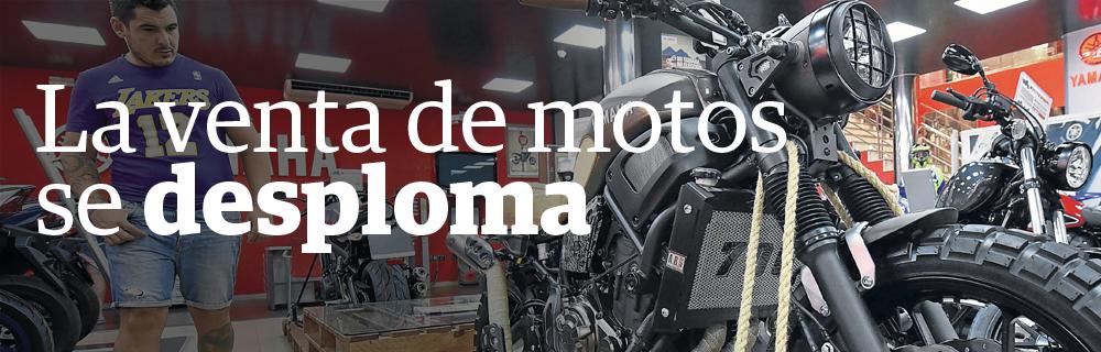 La venta de motos se desploma