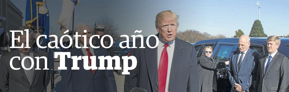 El caótico año con Trump