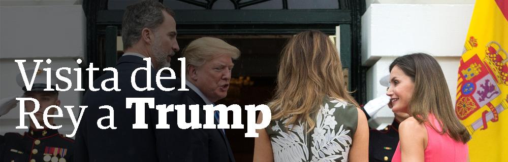 Visita del Rey a Trump