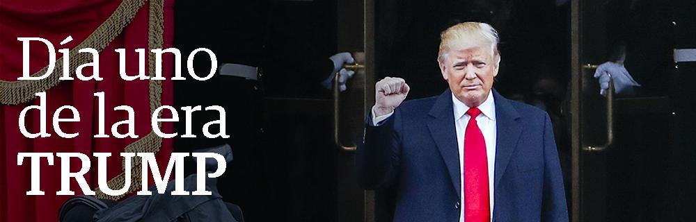 Día uno de la era Trump