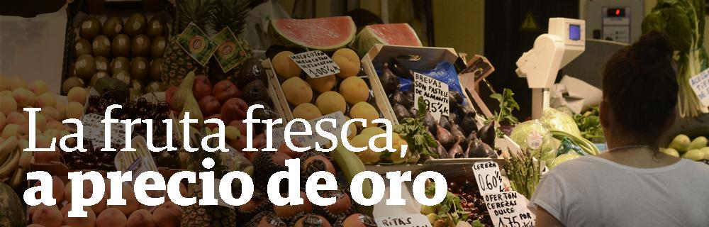 La fruta fresca, a precio de oro