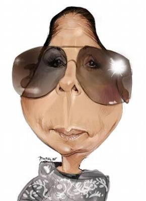 Caricatura de Isabel Pantoja. / Jaime Pandelet