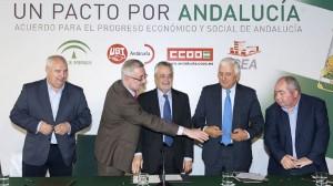 Junta,sindicatos y patronal firma el pacto por el empleo para andalucía