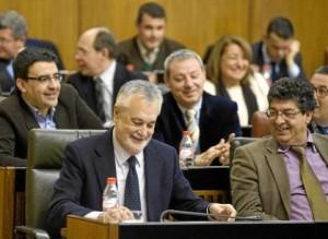 El presidente de la Junta ayer en el Parlamento.