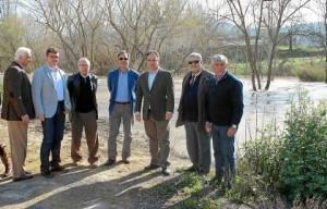 Los representantes y técnicos del CHG visitaron Mogón (Jaén) y Badolatosa, víctimas de las riadas.