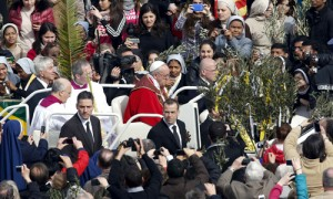 El Papa en el Vaticano en el Domingo de Ramos.