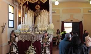 La Virgen del Rosario de la Agrupación Parroquial de La Milagrosa.