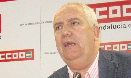 El secretario general de CCOO-A, Francisco Carbonero, ayer.