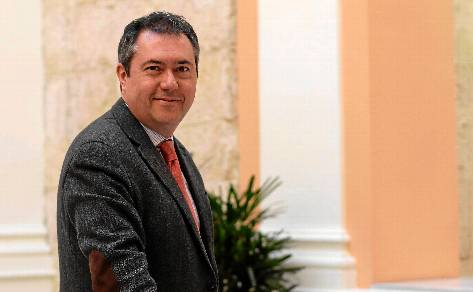 El socialista Juan Espadas, fotografiado esta semana en el Ayuntamiento de Sevilla. - Estefanía González (Atese)
