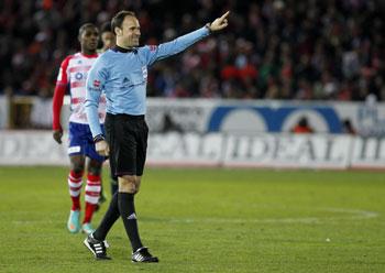 Matheu Lahoz  durante un partido (Marcamedia)