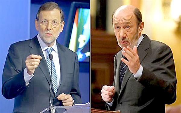 Mariano Rajoy y Alfredo Pérez Rubalcaba.