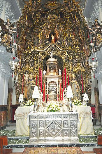 Monumento de la parroquia de San Isidoro, situado en la capilla sacramental.