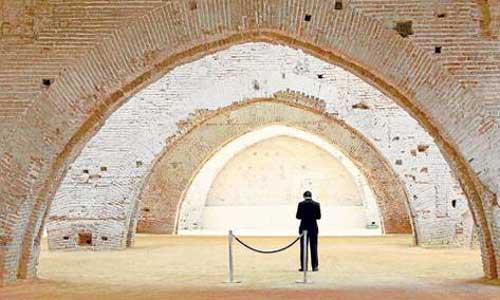 Vista de las Reales Atarazanas después de su reconstrucción.