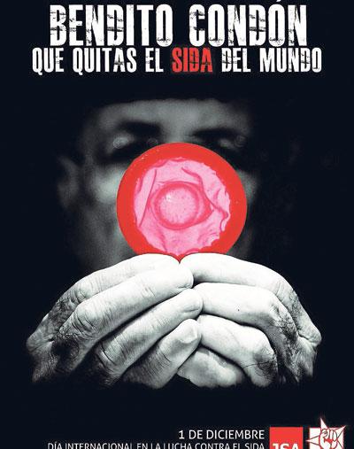Cartel de la campaña de Juventudes Socialistas contra el sida.
