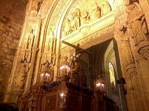El Cristo de la Corona, este viernes.