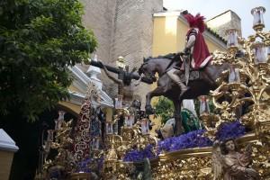33 La salida de La Lanzada congregó a buen número de personas en San Martín. J. M. Espino (Atese)