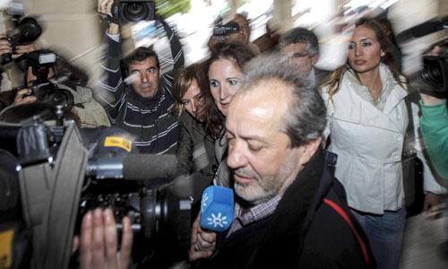 Juan Lanzas llega a los Juzgados de Sevilla este jueves.