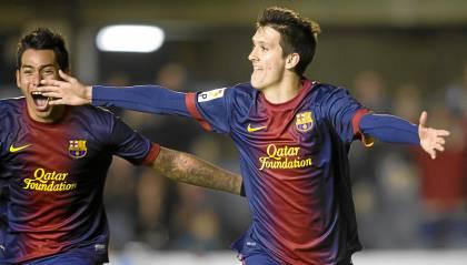 Luis Alberto, celebrando uno de sus goles.