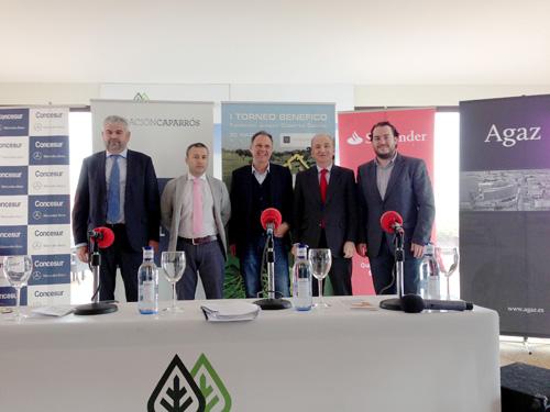 José Carranza, Marcos Galera, Joaquín Caparrós, Miguel Nogales y Fede Quintero, en Hato Verde.
