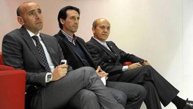Monchi, Unai Emery y José María del Nido.