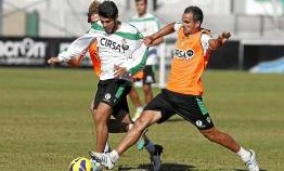 Ángel y Pozuelo, en un entrenamiento (Marcamedia)