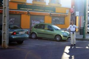 Un 'gorrilla' indica un aparcamiento. - José Carlos Cruz (Atese)