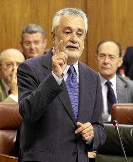 El presidente de la Junta, José Antonio Griñán, ayer en el Parlamento.